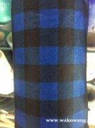 福建厂家 格子款印花水刺布 口罩布 颜色可定做