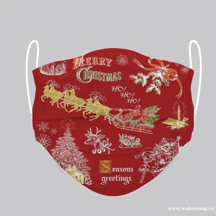 圣诞新品可爱印花口罩   防晒防尘时尚口罩